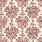 Grand Deco Fresco Red / Cream Damask Luxury Wallpaper A19703