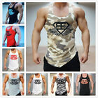 Men Bodybuilding Sport Fitness Gym Sleeveless Tee Camo Tank Top T-shirt