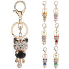 WOMEN LUCKY CAT BAG HANGING KEYCHAIN KEY RING CLASP CAR ACCESSORIES GLARING