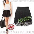 Womens Eye Catching Floral Lace Skater Skirt Ladies Flare Sexy Mini Skirt New
