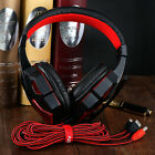 HOT Gaming Headset Headband Headphone 3.5mm LED W/Mic Surround Stereo for PC LOT