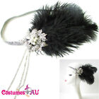 1920s Headband Feather Vintage Bridal Great Gatsby Flapper Headpiece gangster