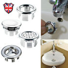 Wash Basin Sink Overflow Cover Ring Bathroom Trim Chrome Universal Useful UK