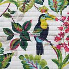 BIRDS TREES TROPICAL FOREST ~ 3PC FULL/QUEEN QUILT ~ SHAMS ~ NEW PALM TREES