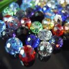 Round Beads Austria Faceted Crystal Glass Beads Loose Spacer Jewelry Making