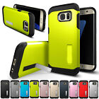 Black Hybrid Armor Shockproof Rubber Hard Case Cover For Samsung Galaxy Phones