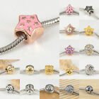 Star Style 316L Stainless Steel Charms Spacer Beads for Women DIY Euro Bracelets