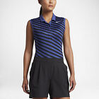 Nike Womens Precision Print Sleeveless Golf Polo - Deep Night/Black -Pick Size