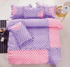 Polka Dot Cotton Touch  Comforter Set W/ Sheet HIGH QUALITY - Purple & Pink image
