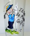 Personalised I'd Rather Be Playing Golf Gift Pint Glass Birthday Christmas Boxed