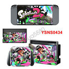 Splatoon 2 Decal Vinyl Skin Sticker Dust Protector Set Cover For Nintendo Switch