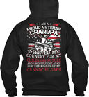 ! - I Am A Proud Veteran Grandpa Served My Country For Gildan Hoodie Sweatshirt
