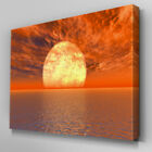 SC082 Ocean Moon Dusk Scenic Wall Art Picture Large Canvas Print