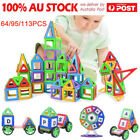 64/95/113PCS Kids Magnetic Blocks Building Toys For Boys Girls Magnet Tiles Kits
