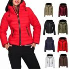 Womens Quilted Padded Puffer Bubble Fur Collar Warm Thick Ladies Jacket Coat