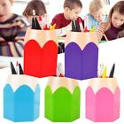 School Makeup Brush Pencil Pot Pen Holder Stationery Tidy Desk Office Storage #7