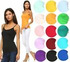 Внешний вид - ANNA WOMEN'S CAMIS TANK TOP STRETCH CAMISOLE SOLID COLORS SPAGHETTI STRAP