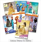 Simplicity Sewing Pattern Kids' Costumes Halloween Disney Pr
