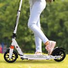 Folding Adult Kick Scooter Adjustable Height Dual Suspension Outdoor Ride Push