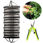 Collapsible 2-Ft 6-Layer Hanging Dry Net Black Mesh with Zipper-Free Scissors