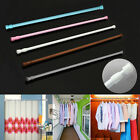 Multi-Use Extendable Telescopic Loaded Net Voile Tension Curtain Rail Pole Rods
