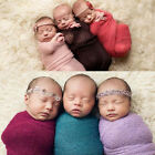 Newborn Baby Photography Photo Props Stretch Knit Swaddle Wrap Blanket Fashion