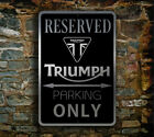 TRIUMPH MOTORCYCLE SIGN Triumph Parking Sign Triumph Signs for Garage Man Cave $14.41 USD on eBay