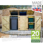 WOODEN RUBBISH WHEELIE BIN STORE RECYCLE BOX STORAGE