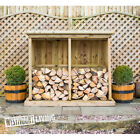 NEW WOODEN LOGSTORE FIRE WOOD STORE LOG STORAGE 2 SIZES