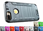 for Apple iPhone 7 Plus Brushed Armor Hybrid Case Cover +Prytool