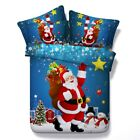 Christmas Duvet Doona Quilt Cover Set King Single Queen Size Santa Claus Bed NEW