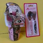 Mossy Oak Camo Sippy Cups, Baby Fork & Spoon Utensil Set, Pink, Green