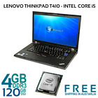 Lenovo Thinkpad T410 Laptop i5-560M 2.66GHz 4GB 120/240GB SSD  DVDRW WIN-7 PRO