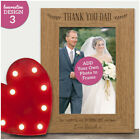 Father of the Bride Wedding Gift Favour Personalised Wedding Photo Frame Gifts