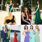 Women's One-shoulder Bridesmaid Party Dresses Formal Evening Party Gown 09768