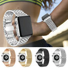 Large/S Metal Wristband Strap Bracelet W/ Buckle for Apple Watch iWatch 38/42mm