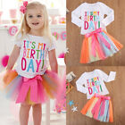 birthday apparel - Baby Girl Kid Toddler Long Sleeve T-shirt+Skirt Dress Outfit Birthday Clothes