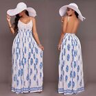 backless dresses uk - Women Summer Sexy Backless Boho Long Maxi Evening Party Beach Dress Sundress