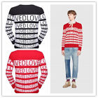 Brand NEW Men's Gucci LOVE Sweater Stitched Black/red Size M-XXXL