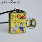 The Wonderful Wizard of Oz Book Locket Charm, Keychain or Pendant Necklace