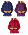 Bed Jacket Slenderella Womens Waffle Fleece Button Up Peter Pan Collar Housecoat