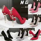 sexy high heels black - Sexy Women Party Stiletto Butterfly Metal High Heels Pointed Toes Wedding Shoes