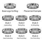 Central Arkansas Bears Hunting and Fishing Rings   Stainless Steel 8mm Wide