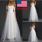 Womens Off Shoulder Lace Mesh Long Maxi Dress Party Wedding Elegant Ball Gown