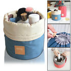 Barrel Cosmetic Wash Bag Makeup Storage Travel Toiletry Organizer Case Pouch UK