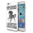 For Various Phones Design Hard Back Case Cover Skin - Black Awesome Unicorn