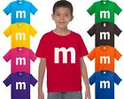 M candy T-shirt Halloween Costume cosplay chocolate family trick or treat Shirts
