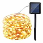 Solar Powered 10M/33FT 100LED Copper Wire Outdoor String Fairy Light  Xmas Decor