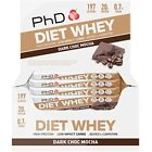 PhD Nutrition Diet Whey Bar New Protein 12 x 65g Recovery Snack *Free P&P*