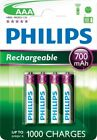 4 x Philips NiMH Rechargeable AAA Batteries HR03 Micro 1.2V 700mAh | PH017